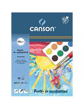 Canson A4 vízfestékes iskolai 25db-os fehér festőtömb