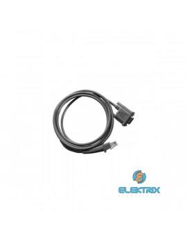 Datalogic CAB-350 RS232 kábel, 9P belső/külső táp, egyenes