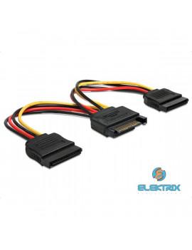 Delock 60105 SATA (15 tűs) >  2db SATA HDD (egyenes) hálózati kábel