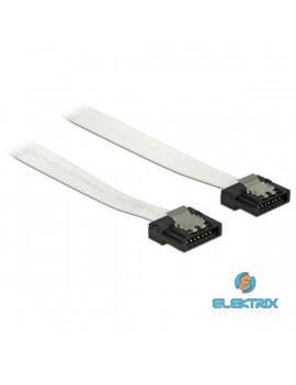 Delock 83831 SATA Flexi 6 Gb/s (fémlappal) 30 cm fehér összekötő kábel
