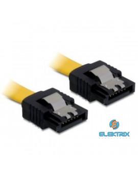 Delock SATA sárga, egyenes/egyenes csatl. (fémlappal), 30 cm-es összekötő kábel