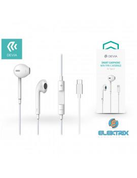 Devia ST325410 Smart sztereó fülhallgató Type-C fehér