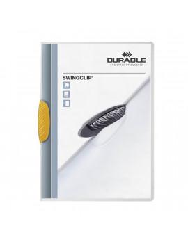 Durable Swingclip A4 30lapos sárga clip-mappa