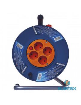 Emos P09225 kábeldob 3x1,5mm2 25m-es kábellel 4 aljzat