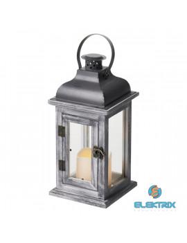 Emos ZY2344 LED/2×AA vintage antik szürke gyertyás lámpás