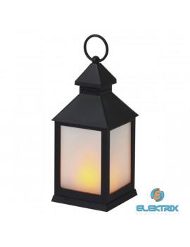 Emos ZY2345 12LED/3×AAA lángoló fekete lámpás