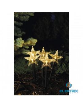 Emos ZY2351 5x30cm/5LED/2xAA/meleg fehér karácsonyi kerti csillag dekoráció