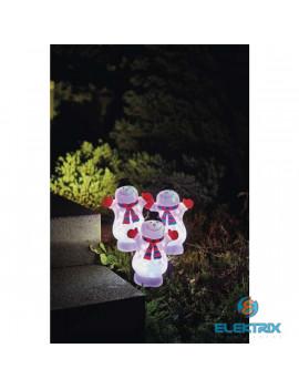 Emos ZY2377 9LED/IP44 színes karácsonyi hóember kültéri projektor