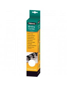 Fellowes 6mm 25db-os 10-20lapos fehér műanyag spirál