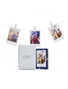 Fujifilm Instax Mini Link okostelefonhoz fehér fotónyomtató + album + fényfüzér