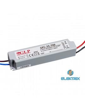 GLP GPC-35-700 34W 9~48V 700mA IP67 LED tápegység