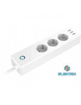 GOSUND P1/3xUSB/3x230V, max.16A/1.5m kábel/hangvezérlés/távoli vezérlés/fogyasztásmérés/Smart Wi-Fi-s okoselosztó