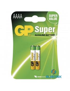 GP Super alkáli AAAA (25A, LR61, LR8, MN2500) szuper mikro ceruza elem 2db/bliszter