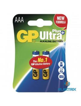 GP Ultra Plus AAA (LR03) alkáli mikro ceruza  elem 2db/bliszter