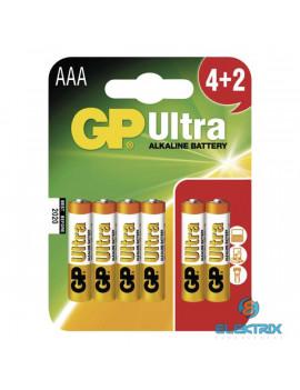 GP B1911MM Ultra Alkáli AAA (LR03) elem 4+2 db/bliszter