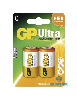 GP Ultra alkáli C baby elem (LR14) 2db/bliszter