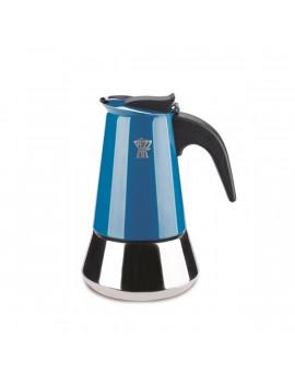 Ghidini Steelexpress 4 személyes indukciós kék kotyogós kávéfőző