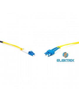Gigalight Duplex optikai patch kábel 2xSC + 2xLC csatlakozóval, 9/125 LSZH, 1 m