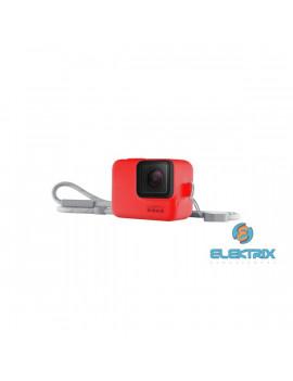 GoPro AJSST-008 Sleeve + Lanyard HERO 8 Black piros szilikon tok és pánt