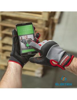 Handy - 10267XL - Munkavédelmi kesztyű tépőzárral - kapacitív ujjheggyel