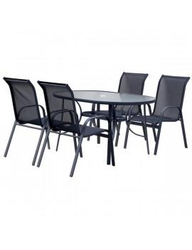 Hecht Ekonomy Set 4 székes kerti bútor szett