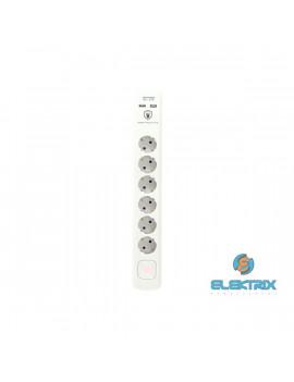 Home NVT 06K USB/WH 6-os túlfeszültség védett USB-s elosztó
