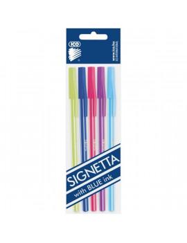 ICO Signetta Mix 0,7mm kék tinta 5db színes golyósirón