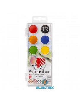 Ico Süni 22,5mm 12 féle színű vízfesték készlet