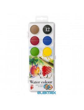 Ico Süni 30mm 12 féle színű vízfesték készlet
