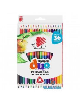 ICO Süni háromszög alakú kétvégű 36db-os vegyes színű színes ceruza