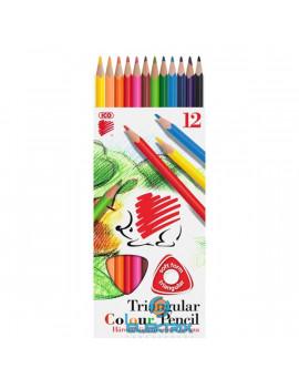 ICO Süni háromszög alakú 12db-os vegyes színű színes ceruza