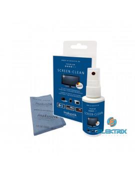 Inakustik 004528002 Premium Screen Cleaner 50ml tisztítófolyadék/mikroszálas törlőkendő képernyőtisztító készlet