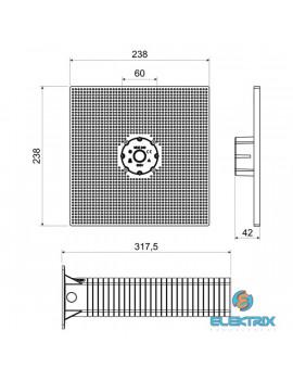 KOPOS MDZ XL 300 KB 300 mm nagy szerelőlemez