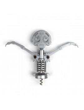 Kikkerland CS14 halálfejes ezüst dugóhúzó