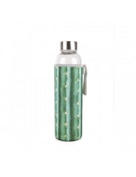 Kikkerland CU248 kaktusz mintájú tokban újratölthető vizespalack