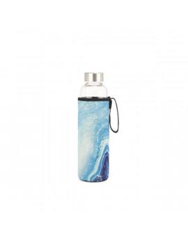 Kikkerland CU270 kék achát tokban újratölthető vizespalack