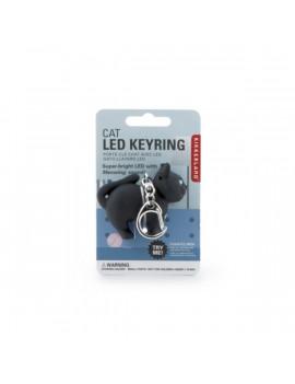 Kikkerland KRL21-CDU-EU hanggal macska LED-es kulcstartó hanggal