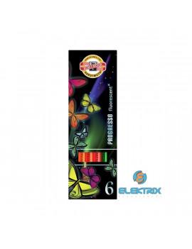 Koh-I-Noor 8741 Progresso Neon henger alakú 6db-os vegyes színű színes ceruza