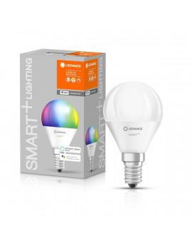 Ledvance Smart+ Wifi vezérlésű 5W RGBW E14 dimmelhető kisgömb LED fényforrás