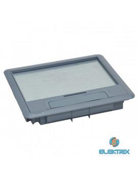 Legrand 088001 Műanyag fedél 12/18 modulos standard padlódobozhoz, max. 8mm burkolattal
