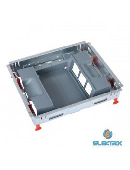 Legrand 088024 12 (2x6) modulos, vertikális, állítható magasságú standard padlódoboz, Mosaic-kal szerelvényezhető