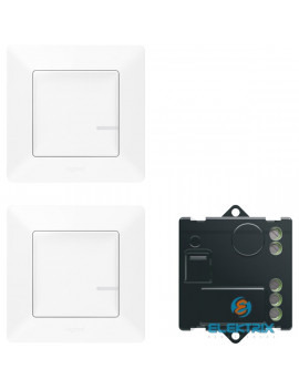 Legrand 752150 Valena Life Netatmo fehér Párosított szett: 2 vezeték nélküli kapcsoló + mikromodul