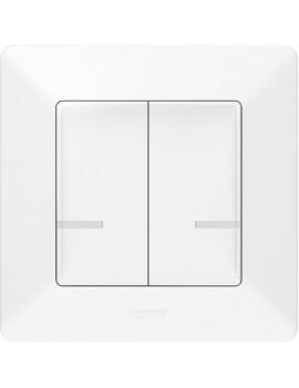 Legrand 752187 Valena Life Netatmo fehér kettős pólusú vezeték nélküli kapcsoló