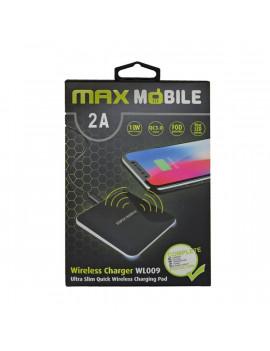 Max Mobile WL-009 2A Qi fekete vezeték nélküli gyorstöltő