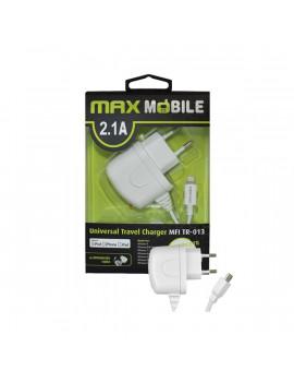 Max Mobile iPhone 2,1A fehér Lightning hálózati töltő