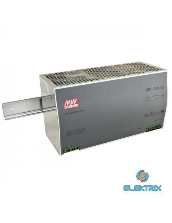 Mean Well DRP-480-48 48V 480W DIN Rail tápegység