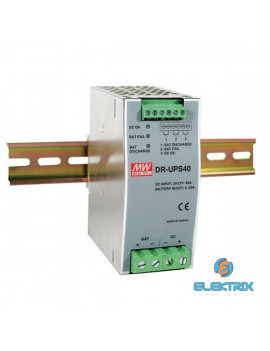 MEAN WELL DR-UPS40 29VDC 40A ipari DIN sínre szerelhető szünetmentes tápegység