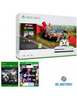 Microsoft Xbox One S 1TB konzol + Forza Horizon 4 + LEGO Speed Champions + Gears of War 4 + FIFA 21 konzolcsomag