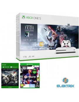 Microsoft Xbox One S 1TB konzol + Star Wars Jedi: Fallen Order + Gears of War 4 + FIFA 21 Xbox One játékszoftver