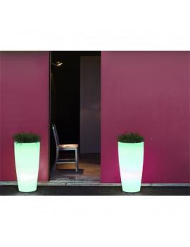 NGA Bambu 70 70x40cm napelemes RGB LED kaspó